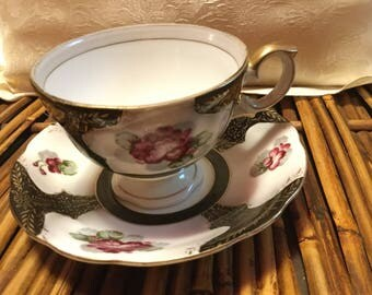 Bond China Cup and Saucer Made in Japan by L&M