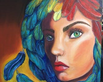 "Oil on canvas ""ara woman"""