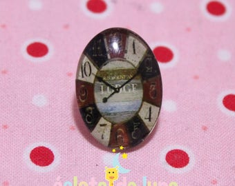 Glass cabochon oval pattern building dials 18 / 25mm