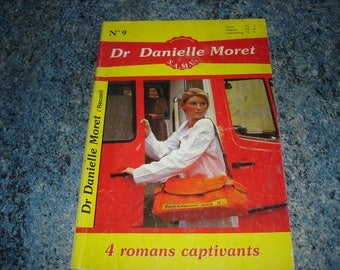 "Book novels Magazine book number 9 series ""Doctor DANIELLE MORET"" (4 exciting novels)"