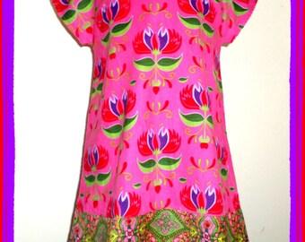 Pink girl JADE velvet dress from 2 to 10 years