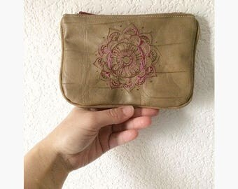 Small clutch, ethnic clutch, mandala pouch embroidered clutch bag pouch