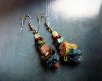 Rustic earrings beads artisannales 2