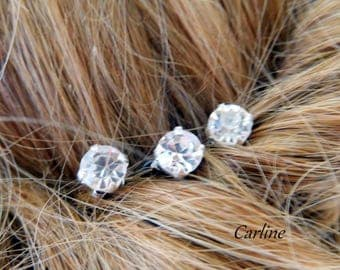 3 peaks rhinestones Swarovski hair wedding hair updo