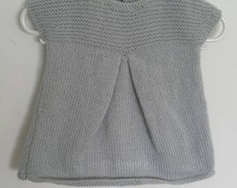 Handmade grey girl's dress