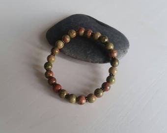 Unakite (6 mm beads) bracelet