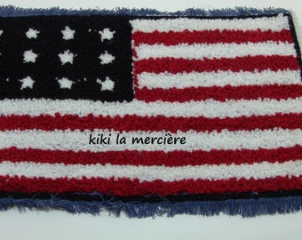 patch, applique, patch Terry large American flag has sewing