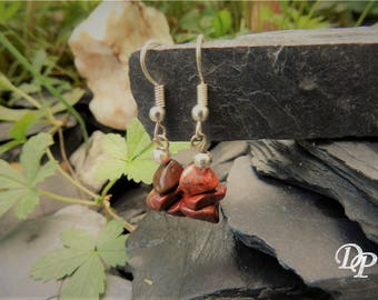 """Earrings """"Zoé"""" red natural stone"""