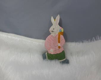Easter Bunny hanging wooden