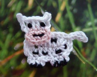 little cow - crochet applique