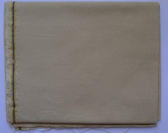 coupon 48 x 48 cm toile à broder coton 22 fils couleur ficelle, toile coton pour broderie 22 fils