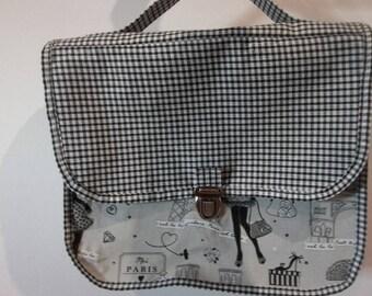 fabric satchel gingham cotton
