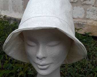 pearly white rain hat