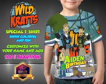 Wild Kratts Birthday Shirt, Wild Kratts Custom Shirt, Personalized Wild Kratts Shirt, Wild Kratts family shirts, Birthday t-shirts Disney