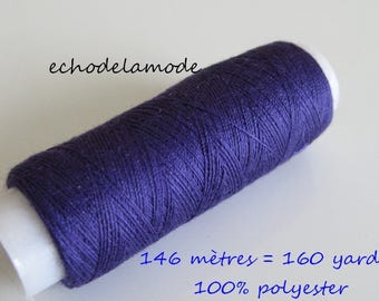 Spool of thread sewing purple 146 m 100% polyester
