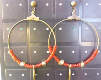 Red bronze Creole and charms
