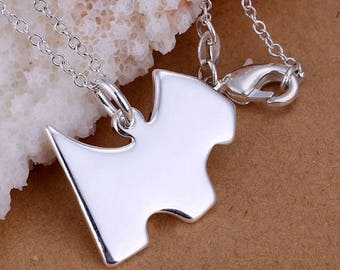 Silver Color Fashion Jewelry Dog Pet Necklace Silver Serling Plated Chain Collier for Girl Women Nice Gift