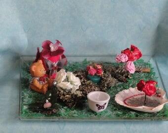 Garden candle centerpiece
