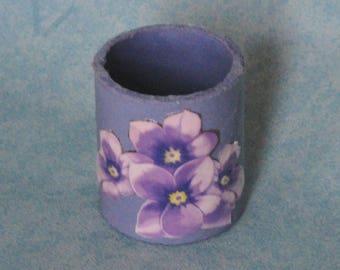 Napkin ring, place cards purple leaden sky