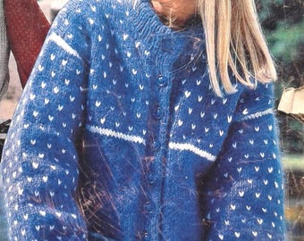 """Just the Jacket Vintage  knitting  pattern   Woman's """"Just the Jacket"""" cardigan  Instant download pdf"""
