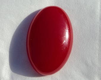 Cabochon red Agate 30 x 20 x 7 mm.