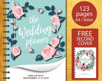 Wedding Planner Printable, Wedding organizer, Wedding Planner, Wedding Planner pdf, Planning Book, Wedding Binder Template, Wedding Planner