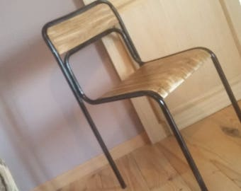wood table industrial style Chair original