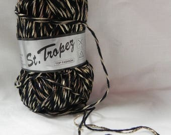 "Black wire ball ""st tropez"" cotton for crochet bracelet"
