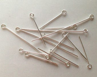 LOT 10 gr posts STUDS in BRONZE with 14-50 mm silver color ear head sizes