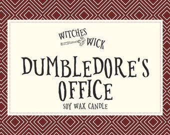 Harry Potter Themed Soy Wax Candle- Dumbledore's Office