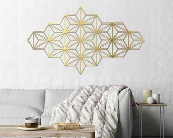 Harmony wall art, metal wall art, modern wall art, gold wall hanging, minimalist wall art, geometric wall art, geometric wall decor, glyphs