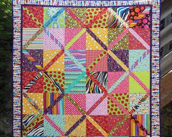 """Blanket/cover in patchwork, """"Rainbow"""" collection"""