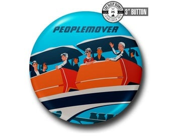 """Vintage People Mover - 3"""" Button"""