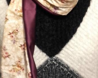 Scarf purple chic and romantic fabric