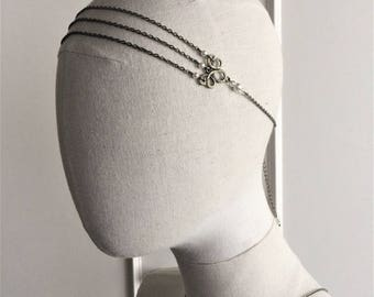 "Headband wedding bronze ""Amandine"" with swarovski pearls"
