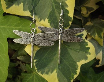 silver-plated Dragonfly earrings