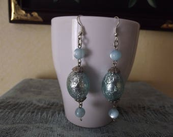 Blue Lagoon for these Silver earrings