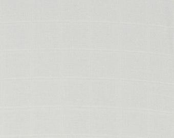 Tissu DOUBLE GAZE de coton - Gris nuage