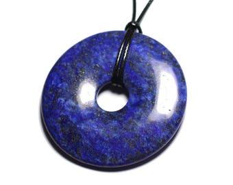 Stone - Lapis Lazuli ft 60mm Donut pendant necklace