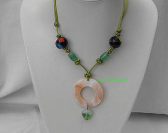 Adjustable necklace CL.0210 Chinese knots