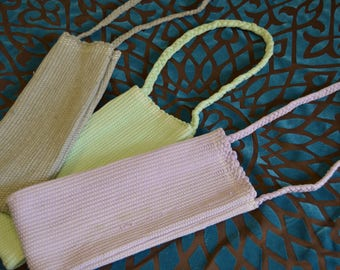 Handwoven Wine, Water Bags; Assorted Colors, Recycled Material