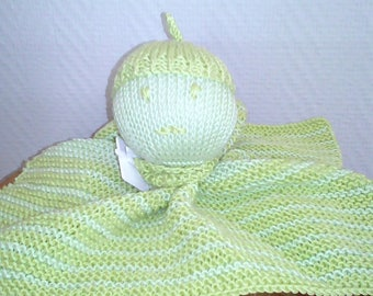 MOSS green blanket stitch knit
