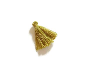Khaki cotton tassel