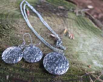Vintage set earrings and necklace steel 304