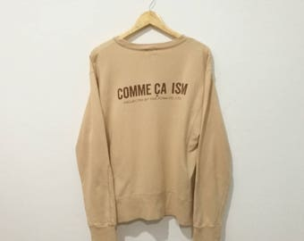 RARE!! Vintage Comme Ca Ism Sweatshirt Spellout On the back pullover