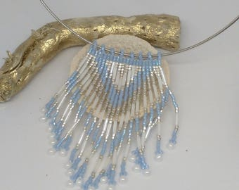 glass bead Choker necklace