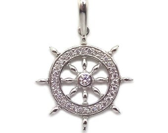 Pendant Helm Handwheel Sterling Silver 925 SKU