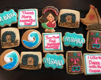 Moana Cookies-Moana Party- Decorated Cookies