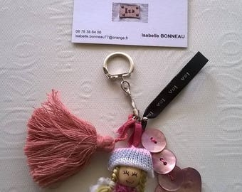 """""""Doll"""" key chains and charms"""