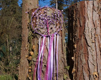 tree of life handmade purple and pink hands